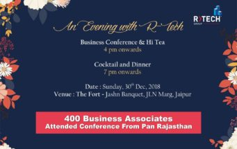 R Tech Group Organized Business Conference at Jashn E Fort, Jaipur, 30 Dec 2018
